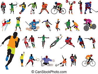 Silhouettes athlete Vector set for you design