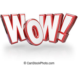 Wow Surprised Word Astonished Surprising - The word Wow in...