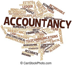 Accountancy - Abstract word cloud for Accountancy with...