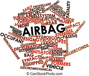 Word cloud for Airbag - Abstract word cloud for Airbag with...