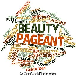 Beauty pageant - Abstract word cloud for Beauty pageant with...
