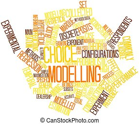 Word cloud for Choice modelling - Abstract word cloud for...