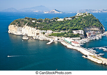 Naples gulf - View of Naples Gulf from Pozzuoli. Ischia and...