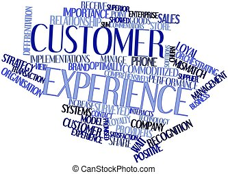 Word cloud for Customer experience - Abstract word cloud for...
