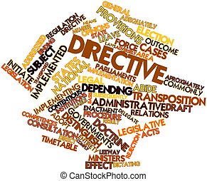 Directive - Abstract word cloud for Directive with related...