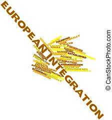 European integration - Abstract word cloud for European...