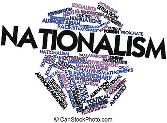 Nationalism - Abstract word cloud for Nationalism with...