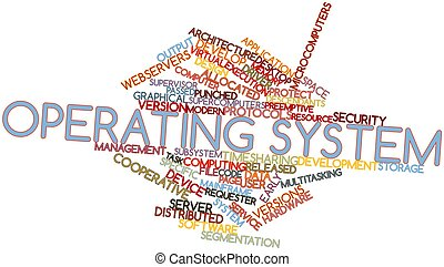Word cloud for Operating system - Abstract word cloud for...