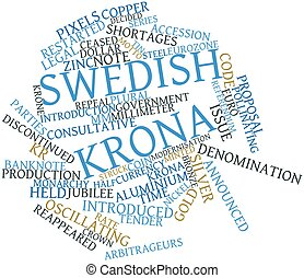 Word cloud for Swedish krona - Abstract word cloud for...