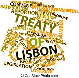 Treaty of Lisbon - Abstract word cloud for Treaty of Lisbon...