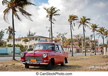 vintage car - HAVANA - 25 MARCH: Vintage car in Cuba,...