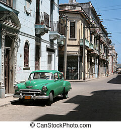 vintage car - HAVANA - 27 MARCH: Vintage car in Cuba,...