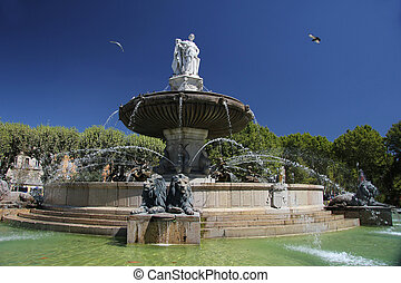 Fountain in Aix en Provence - Rotunda Fountain in Aix en...