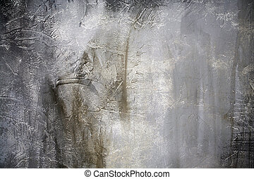 high quality grey scratched and painted wall - grey old dirt...