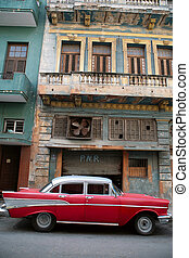 vintage car - HAVANA - 22 MARCH: Vintage car in Cuba,...