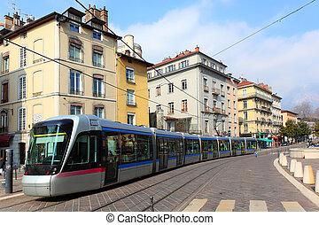 tramway - Tram in Grenoble, France
