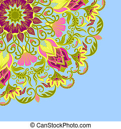 Vector ornamental background - Vector illustration with...