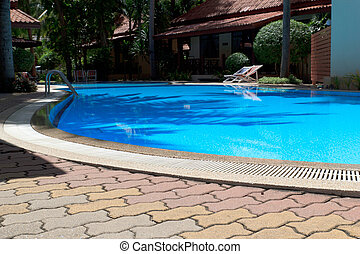 Swimming pool - Outdoor in ground residential swimming pool...