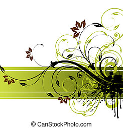 floral background - illustration drawing of floral banner