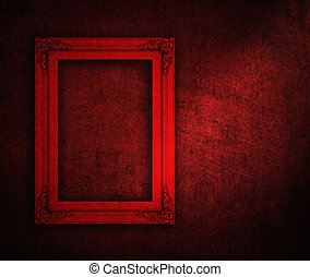 frame for artwork. -  red frame for artwork background