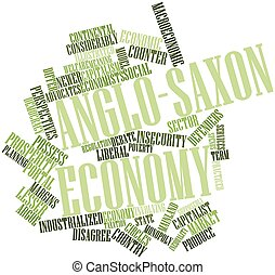 Anglo-Saxon economy - Abstract word cloud for Anglo-Saxon...
