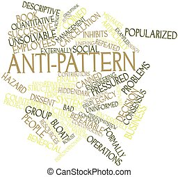 Anti-pattern - Abstract word cloud for Anti-pattern with...