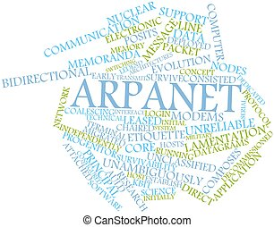 ARPANET - Abstract word cloud for ARPANET with related tags...