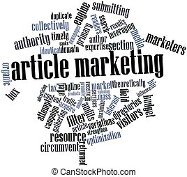 Word cloud for Article marketing - Abstract word cloud for...