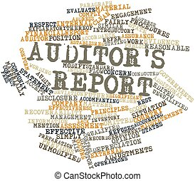 Word cloud for Auditor's report - Abstract word cloud for...