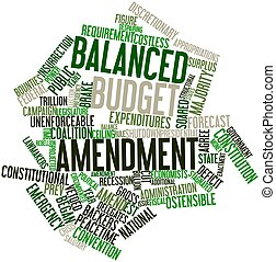 Balanced budget amendment - Abstract word cloud for Balanced...