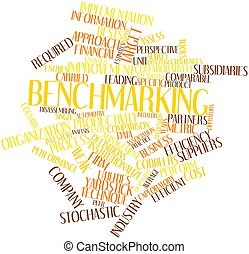 Benchmarking - Abstract word cloud for Benchmarking with...