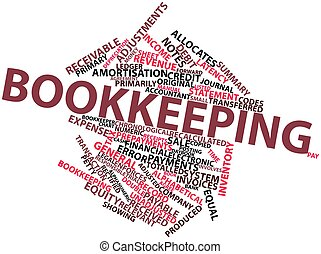 Bookkeeping - Abstract word cloud for Bookkeeping with...