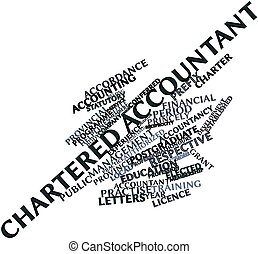 Word cloud for Chartered Accountant - Abstract word cloud...