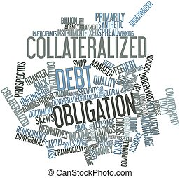 Collateralized debt obligation - Abstract word cloud for...