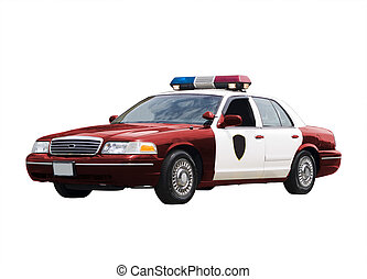 Police Car - A police car isolated on a white background