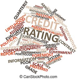 Credit rating - Abstract word cloud for Credit rating with...