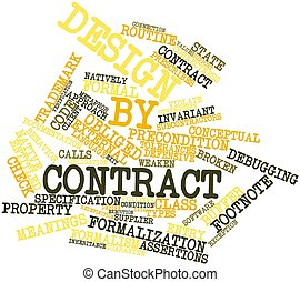 Design by contract - Abstract word cloud for Design by...