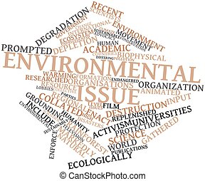 Word cloud for Environmental issue - Abstract word cloud for...
