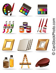 Painting materials and tools