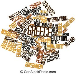 Word cloud for Greece - Abstract word cloud for Greece with...
