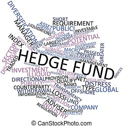 Hedge fund - Abstract word cloud for Hedge fund with related...