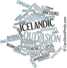 Word cloud for Icelandic outvasion - Abstract word cloud for...