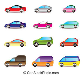 Popular types of cars - vector illustration