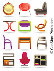 Contemporary home furniture icons