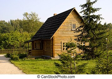 wood house - small wood house in the Belarus