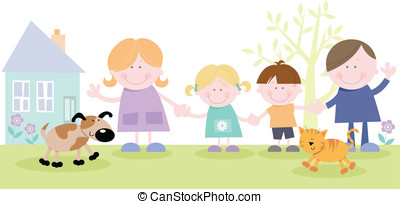 Happy Family Holding Hands - Family together outside family...