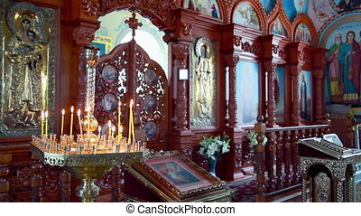 The orthodox church chancel