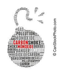 Carbon Monoxide info-text graphics and arrangement concept...