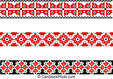 Elements of the national Ukrainian embroidery. eps10