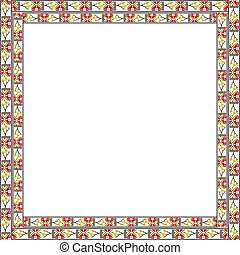 Frame with elements of national Ukrainian embroidered. eps10
